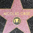 Nicolas Cages star on Hollywood Walk of Fame — Stock Photo
