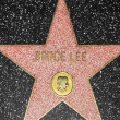 Bruce Lees star on Hollywood Walk of Fame — Stock Photo #11928629