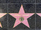 Johnny Grants star on Hollywood Walk of Fame — Stock Photo