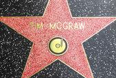 Tim mcgraws hvězda na hollywoodském chodníku slávy — Stock fotografie
