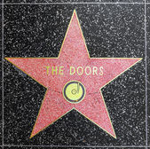 The doors star on Hollywood Walk of Fame — Stock Photo