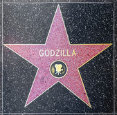 Godzillas star on Hollywood Walk of Fame — Stock Photo