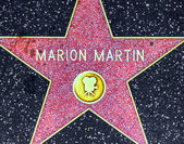 Marion Martins star on Hollywood Walk of Fame — Stock Photo