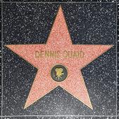 Dennis quaids ster op hollywood lopen van roem — Stockfoto
