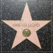 Harold lloyds star on Hollywood Walk of Fame — Stock Photo