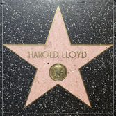 Harold lloyds star on Hollywood Walk of Fame — Stock Photo