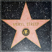 Meryl Streeps star on Hollywood Walk of Fame — Stock Photo