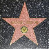 ハリウッド ウォーク オブ フェイムにマイケル ボルトンズ スター — ストック写真