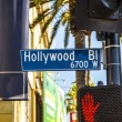Street sign Hollywood Boulevard in Hollywood — Stock Photo