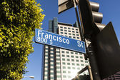 Street sign Francisco street in Hollywood — Stok fotoğraf
