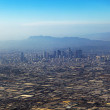 Aerial of Los Angeles in fog — Stock Photo