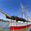 Vintage 1886 sailing ship, Balclutha on public display at San Fr — Stock Photo