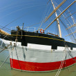 Stock Photo: Vintage 1886 sailing ship, Balclutha on public display at San Fr