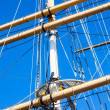 Detail of the three-master Balclutha (1886), San Francisco Marit — Stock Photo