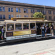 Famous Cable Car Bus  in Powell and Mason street - Stock Photo