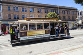 Famous Cable Car Bus in Powell and Mason street — Stock Photo