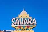 Sahara Neon Sign on the side of the Hotel — Stock Photo