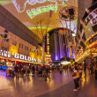 Fremont Street in Las Vegas, Nevada by night - Stock Photo