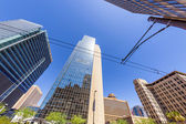 Perspective of skyscrapers downtown Phoenix — Stock Photo
