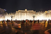 Watch famous Bellagio Hotel with water games in Las Vegas — Stock Photo