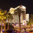 caesars palace resort facade by night — Stock Photo