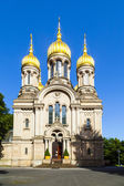 Russian orthodox chapel Wiesbaden, Germany — Stock Photo