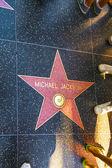 Michael jacksons stern auf hollywood walk of fame — Stockfoto