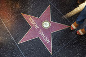 Michael Jackson's star on Hollywood Walk of Fame — Foto de Stock