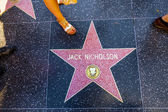 Jack Nicholsons star on Hollywood Walk of Fame — Stock Photo