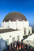 Visit the observatory in Griffith park — Stock Photo