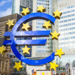 Stock Photo: Famous euro sign in Frankfurt am Main wide-angle shot