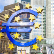 Famous euro sign in Frankfurt - Stock Photo