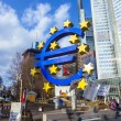 Stock Photo: Famous euro sign in Frankfurt