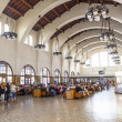 Stock Photo: Wait for trains inside Union Station