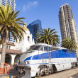 Diesel locomotive, San Diego, California. - Stock Photo