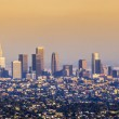 Aerial of Los Angeles in sunset — Stock Photo