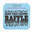 Classic raffle ticket - Stock Photo