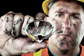 Diamond Miner — Stock Photo
