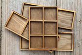 Wooden box tray — Stock Photo