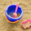 Toys in the sand — Stock Photo