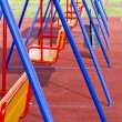 Stock Photo: Colored metal Swing (teeter)