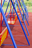 Colored metal Swing (teeter) — Stock Photo