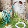 Garden hose connection — Stock Photo