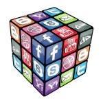 Social Rubik Cube v2.0 — Stock Vector