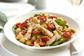 Creamy Chicken and Spinach Pasta — Stock Photo