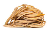 Pile of Rubber Bands over White — Stock Photo