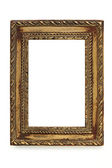 Gilded Shabby Chic Picture Frame over White — Stock Photo