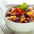 Bean and Corn Salad with Chili - Stock Photo