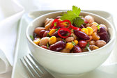 Bean and Corn Salad with Chili — Stock Photo