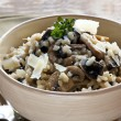 Mushroom Risotto - Stock Photo